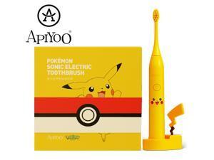 APIYOO Electric Toothbrush Pikachu Sonic Electric Toothbrush, Children Toothbrush, Fully Automatic Rechargeable Toothbrush