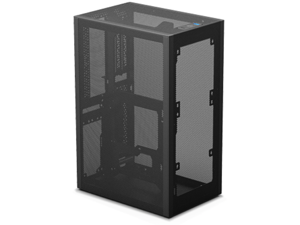 SSUPD Meshlicious Mini-ITX Small Form Factor (SFF) Case - Full Mesh Side Panel with PCIe 3.0 Riser Cable - Black Color, Tool-Free and Easy Accessibility