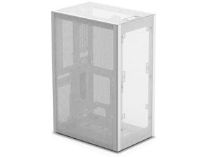 SSUPD Meshlicious Mini-ITX Small Form Factor (SFF) Case - Full Mesh Side Panel with PCIe 3.0 Riser Cable - White Color, Tool-Free and Easy Accessibility