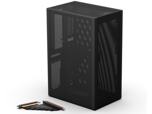 SSUPD Meshlicious Mini-ITX Small Form Factor (SFF) Case - Full Mesh Side Panel with PCIe 4.0 Riser Cable - Black Color, Tool-Free and Easy Accessibility