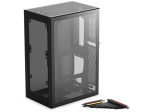 SSUPD Meshlicious Mini-ITX Small Form Factor (SFF) Case - TG & Mesh Side Panels with PCIe 4.0 Riser Cable - Black Color
