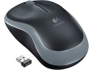 Logitech M185 Wireless Mouse, 2.4 Ghz Connection Via Nano Usb Receiver, 1000 Dpi Optical Sensor,  For Left And Right-Handed Users, Pc / Mac - Grey