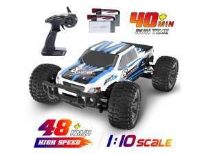 DEERC 9200E High-Speed RC Cars, 1:10 Large Scale 48+ km/h 4WD 2.4GHz Off-Road Monster Truck with 2 Batteries for 40+ Mins Play