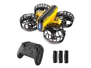 Holy Stone HS450 Mini Drone, Hand Operated + Remote Control Nano Quadcopter for Kids, with 3 Batteries