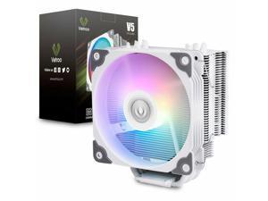 V5 CPU Cooler Cooling Heatsink PC Computer Case Fan 120mm PWM Fan ARGB