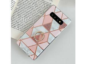 Marble Phone Case Cover For  Galaxy Note 10 S10 Plus S9 S8 Finger Ring US