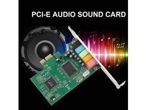 PCI Express PCI-E5.1 Ch 6 Channel PCIE Audio Digital surround Sound Card Adapter