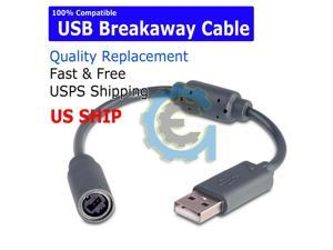NEW USB Breakaway Dongle Cable Cord Adapter For  PC Wired Controller USA