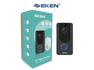 EKEN V7 -1080p HD Smart Wi-Fi Video Doorbell with a crisp sharp night vision and motion sensor.