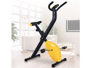 BOSCARE Folding Exercise Bike Home Cycling Magnetic Trainer Fitness Stationary Machine
