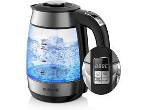 BOSCARE Electric Kettle for Drip Coffee and Tea, Stainless Steel Pour Over Coffee Teapots Kettle, Auto Shut Off and Boil-Dry Protection (1.7L Electric Kettle)