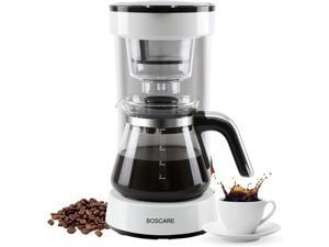 BOSCARE Coffee Maker with Reusable Filter, Small Drip Coffeemaker ,Compact Coffee Pot Brewer Machine (5 Cup)
