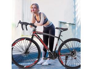 Begasso Shimanos Aluminum Full Suspension Road Bike 21 Speed ??Disc Brakes, 700c