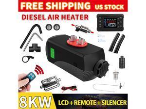 Furgle 8000W Air Diesel Heater 8KW 12V Silencer 2 Vent 2 Duct PLANAR for Trucks Motor-homes, Boat Bus Van UK