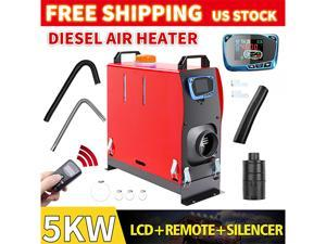 Furgle Diesel Air Heater 5KW 12V All in one LCD Monitor For Truck Motorhome Trailer w/Silencer