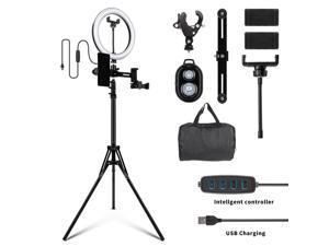 """Furgle 10"""" LED Ring Light Dimmable Lighting Kit Phone+Selfie Tripod Makeup Live Lamp"""