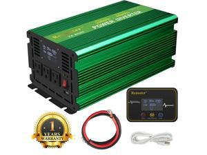 Furgle Car Power Inverter 2000W 4000 W 12V DC to 110V 120V AC LCD Wireless Remote RV