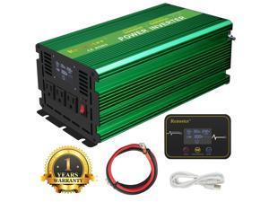 Furgle 3000 W 6000W Modified Sine Wave Power Inverter 12V DC to 110V 120V AC LCD Display 15m Remote