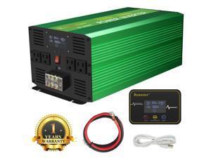 Furgle Power Inverter 3500W 7000W Pure Sine Wave 12V dc to ac 120V LCD Display 4 US Plug USB Wireless Remote