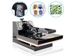 "Furgle 15""X15"" DIY Digital Clamshell T-shirt Heat Press Machine Sublimation Transfer for T-Shirts Hat Mug Plate Cap"