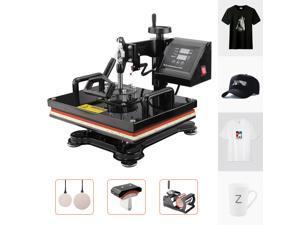 "Furgle 12""x15"" 5in 1 Digital Heat Press Machine Digital Transfer Sublimation T-Shirt Mug Hat"