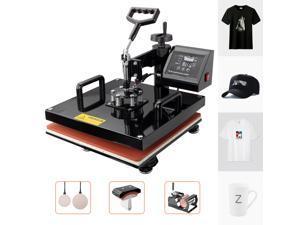"Furgle 15""x15"" Heat Press 5 in 1 Combo T-Shirt Machine 360 Degree Digital DIY Printer"
