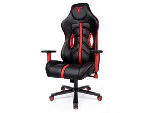 Furgle Premium Gaming Chair Black Office Chair High Back Computer Chair with Ultimate Breathable PU Leather  Racing Executive Ergonomic Adjust Swivel Task Chair with Retractable Armrest Lumbar Support