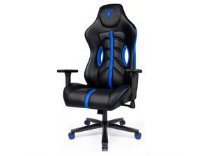 Furgle Ultimate Gaming Chair with Premium Breathable PU Leather Black Office Chair High Back Computer Chair Racing Executive Ergonomic Adjust Swivel Task Chair with Retractable Armrest Lumbar Support