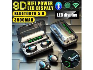 Furgle F9 Bluetooth Earbud Mini Invisible V5.0 Wireless Bluetooth Earpiece Headset Headphone Earphone with 3500Amh Charging Case Dock for iPhone Android Samsung Galaxy Black