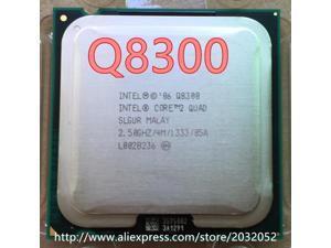 Inteligencia Core 2 Quad Q8300 CPU (procesador de 2,5 Ghz/ 4M /1333GHz) 775 CPU (trabajo 100% envío gratis)