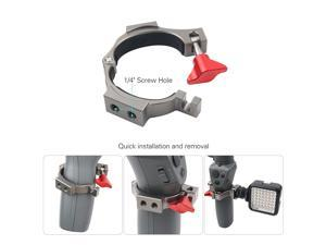 Expansion Bracket Clip Holder with 2 Hot Shoe Mounts for Microphone LED Light for DJI OSMO Mobile 2 Handheld
