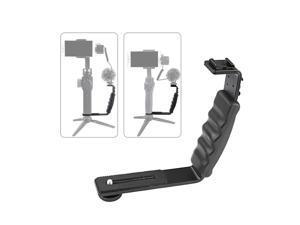 Handheld L-shaped Gimbal Expansion Bracket Holder with 2 Hot Shoe Mounts for DJI OSMO Mobile 2 for Zhiyun