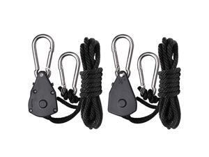 2-Pack Ratchet 1/8 Inch Adjustable Heavy Duty Tie Down Rope