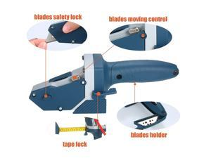 All-in-one Gypsum Board Cutting Tool with Measuring Tape and Utility Knife Mark and Cut Drywall Shingles
