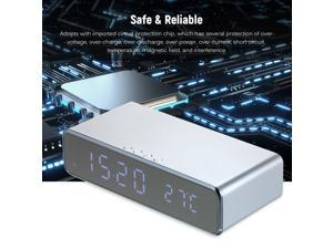 Wireless Charger Desk Clock LED Digital Clock Temperature Meter ?/ ? Switchable Wireless Charging Device Mul