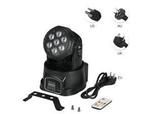 AC100-240V 105W 7LED RGBW Stage Light Lighting Fixture with Remote Control Supported DMX512/ Sound Activated/