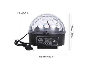 DMX512 LEDs Ball Stage Light with Remote Control 6 Channel Sound Activated Party Lights 6 Colors Stage Par