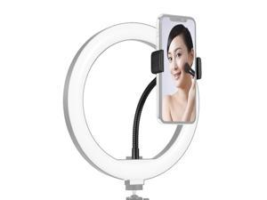 Foldable Phone Clamp Holder Stand with 1/4 Screw Mounting for LED Ring Light Smartphone Mounting Compatible