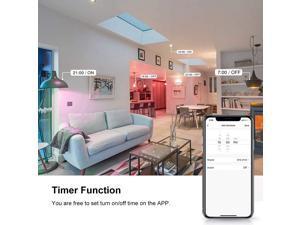 V16-C Smart WIFI LED Bulb RGB+W LED Candle Bulb 6W E27 Dimmable Light Phone Remote Control Group Control