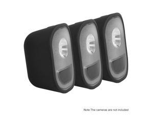 3 Pack Silicone Skin for Arlo Light Security Cameras Weatherproof UV-resistant Case , Black
