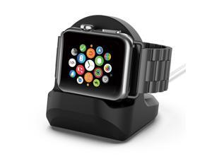 Silica Base For Apple Watch Holder Hand Free Cable Hole Charging Support Bracket For iWatch Watch Dock Stand