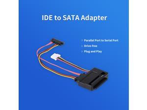 IDE to SATA Adapter Parallel Port to Serial Port 2.5in 3.5in IDE Interface HDD Base Hard Drive Adapter
