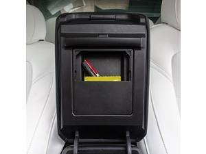 Armrest Hidden Storage Box Center Console Organizer Black Replacement for Tesla Model 3