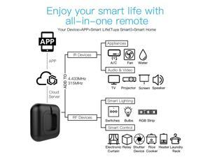 WIFI IR RF Remote Universal Controller Voice Control Intelligent Home Life All-in-One Remote Compatible with