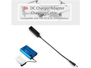 B6 B6AC DC Charger Adapter Charging Cable Compatible with FIMI X8 SE RC Drone Battery