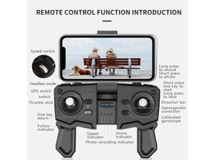 SG701S RC Drone with Camera 4K Dual Camera 5G Wifi GPS Foldable Optical Flow Positioning RC Quadcopter with