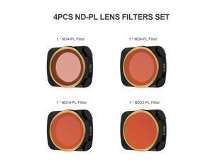 for DJI Mavic Air 2 Drone 4pcs Lens Filter Set ND4-PL ND8-PL ND16-PL ND32-PL Filter Combo Multi-coated Filters
