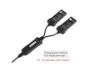 2in1 USB Balance Charger and 2pcs 3.7V 1100mAh Battery for DJI Tello RC Drone Quadcopter