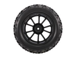 4PCS 1/10 Off-road Tyre Double V Tread Pattern 10 Spokes Rim for 1/10 HSP HPI Redcat RC4WD RC Monster Truck