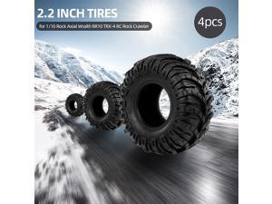 4Pcs 2.2 Inch 125mm 1/10 RC Rock Crawler Tires for 1:10 Rock Axial Wraith RR10 TRX-4 RC Rock Crawler Jeep